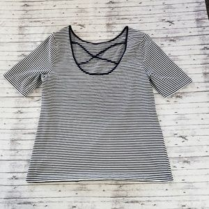 American Living Tee Crossback Striped XL